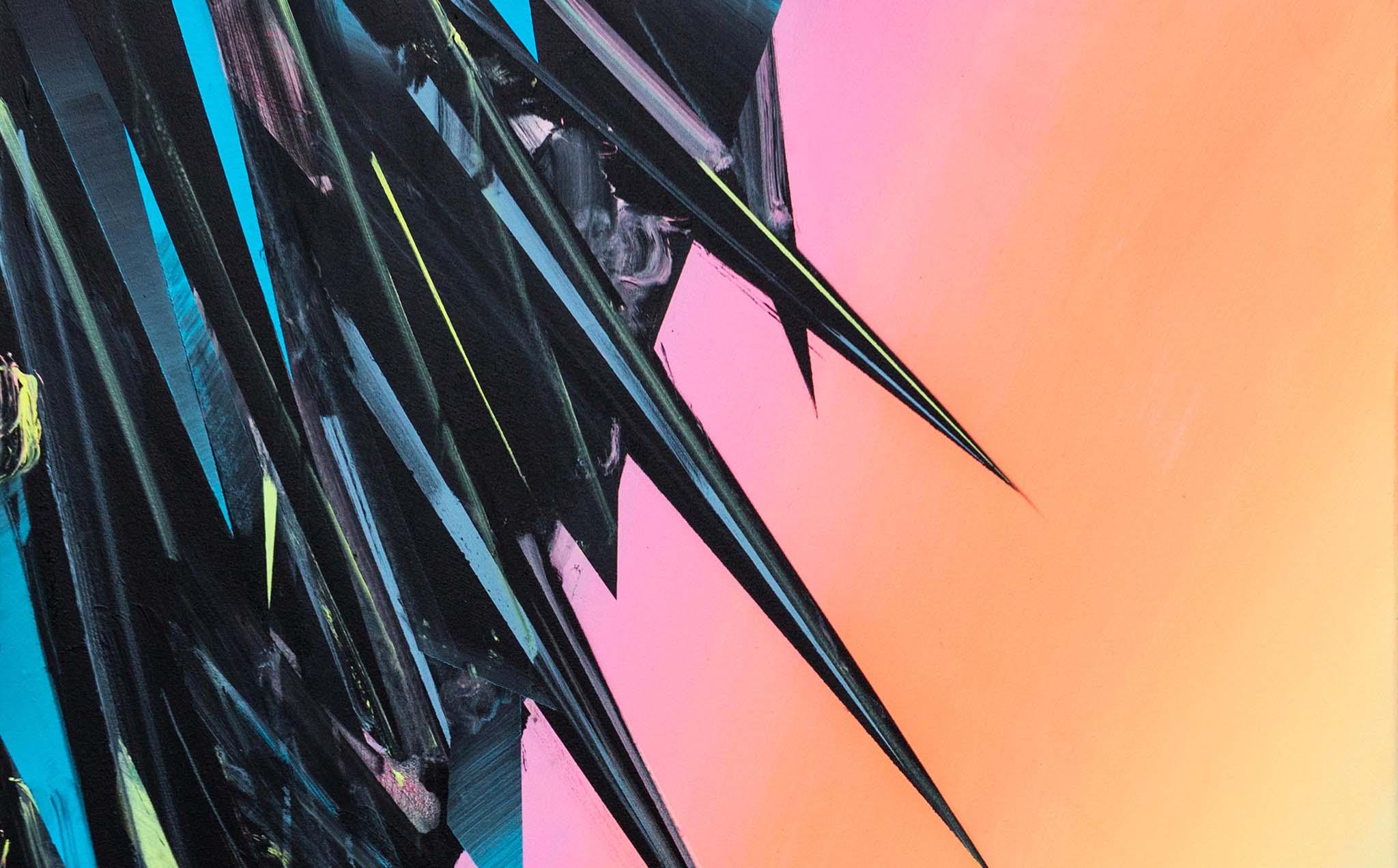 Phil Ashcroft, Ramsey Bay (Sunset Version), acrylic on canvas, 122 x 92cm, 2014, photo: Joe Plommer