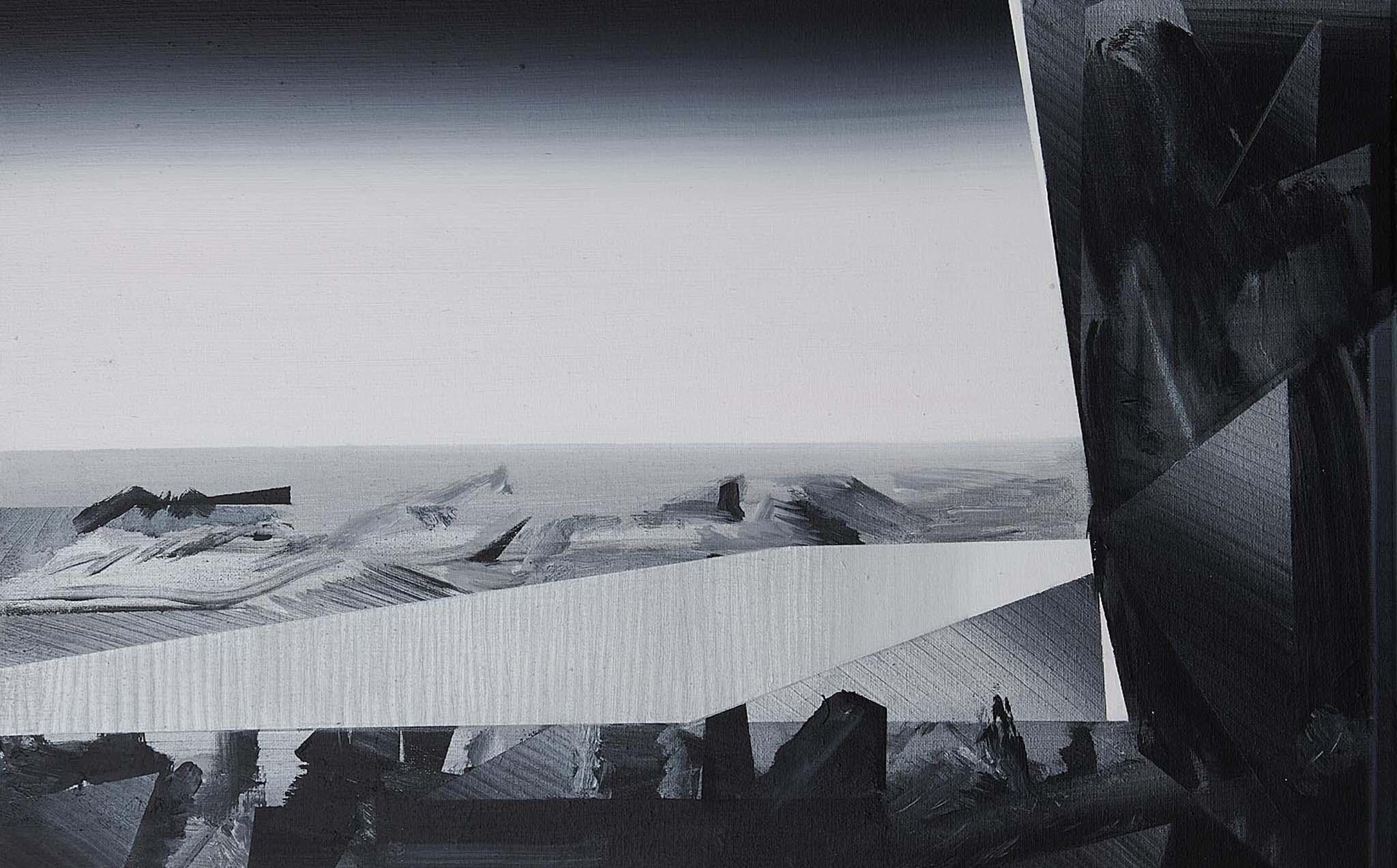 Phil Ashcroft, Tunnels Beaches 1 (Ilfracombe), acrylic on canvas, 61 x 46cm, 2020