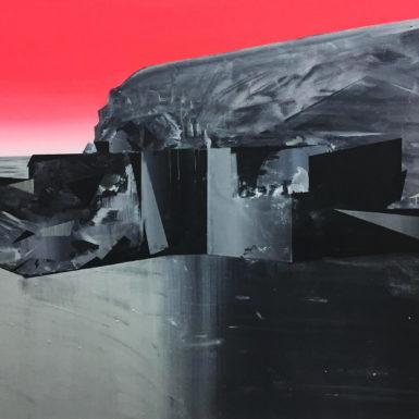 Phil Ashcroft, Blue Lagoon (Abereiddy), acrylic on canvas, 121 x 91cm, 2019, photo: Tobi Jenkins