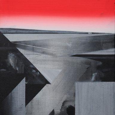 Phil Ashcroft, Combe Martin (study), acrylic on canvas, 50 x 40cm, 2020, photo: Tobi Jenkins