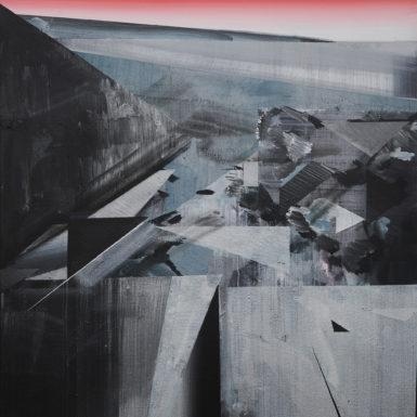 Phil Ashcroft, Combe Martin 1, acrylic on canvas, 102 x 76cm, 2020, photo: Tobi Jenkins