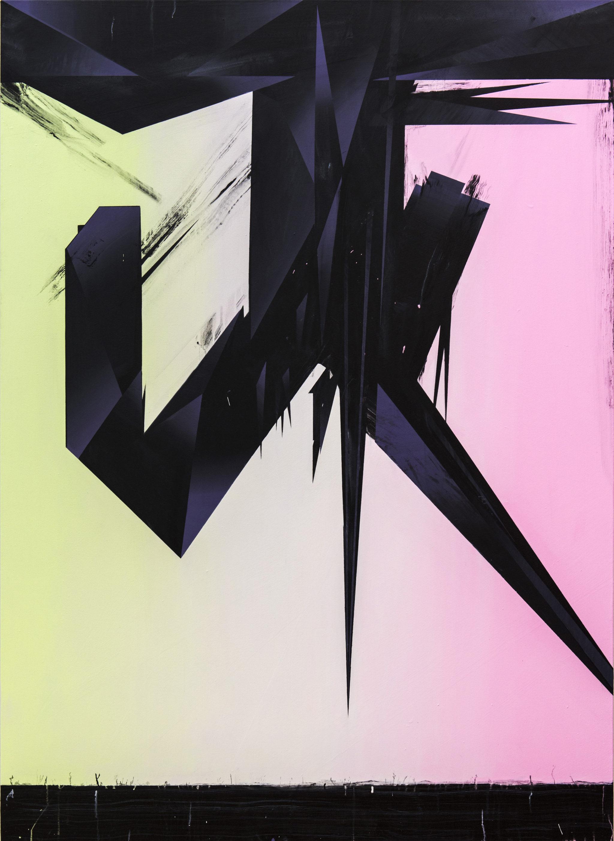 Phil Ashcroft, Cyclone (GP Version), acrylic on canvas, 175 x 126cm, 2012, photo Joe Plommer