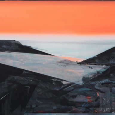 Phil Ashcroft, Three Cliffs 1, acrylic on canvas, 122 x 92cm, 2021, photo: Tobi Jenkins