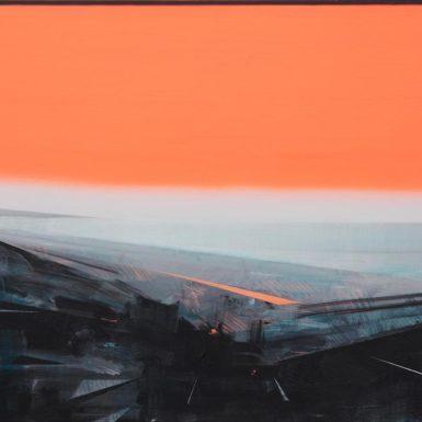 Phil Ashcroft, Combe Martin 3, acrylic on canvas, 102 x 76cm, 2021 photo Tobi Jenkins