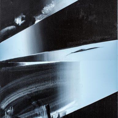 Cloaked (Atlantic Grey Study), acrylic on canvas, 61 x 46cm, 2016 photo Tom Horak