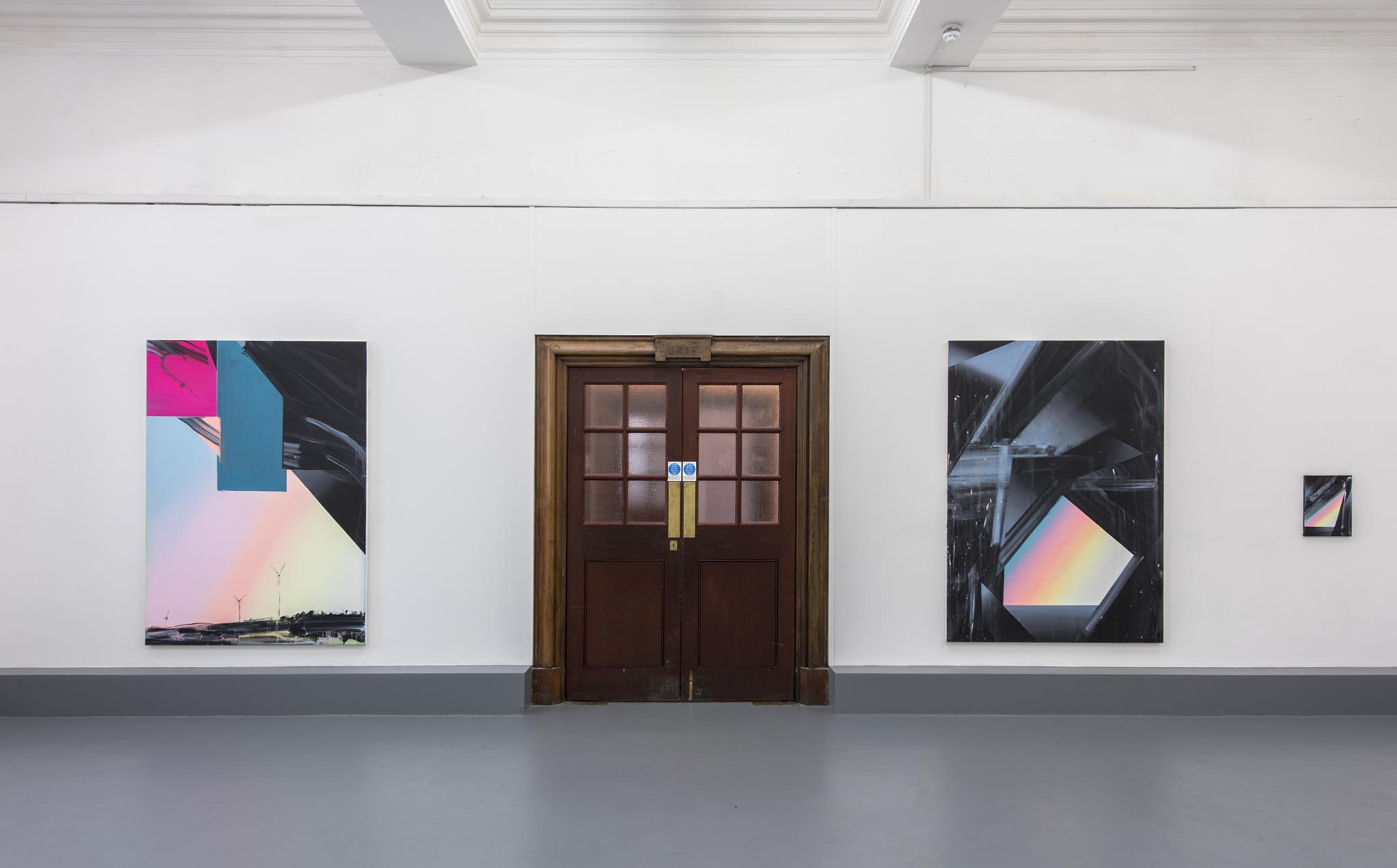 Phil Ashcroft, Cave Paintings, installation view, solo exhibition at Lewisham Arthouse, London 2015